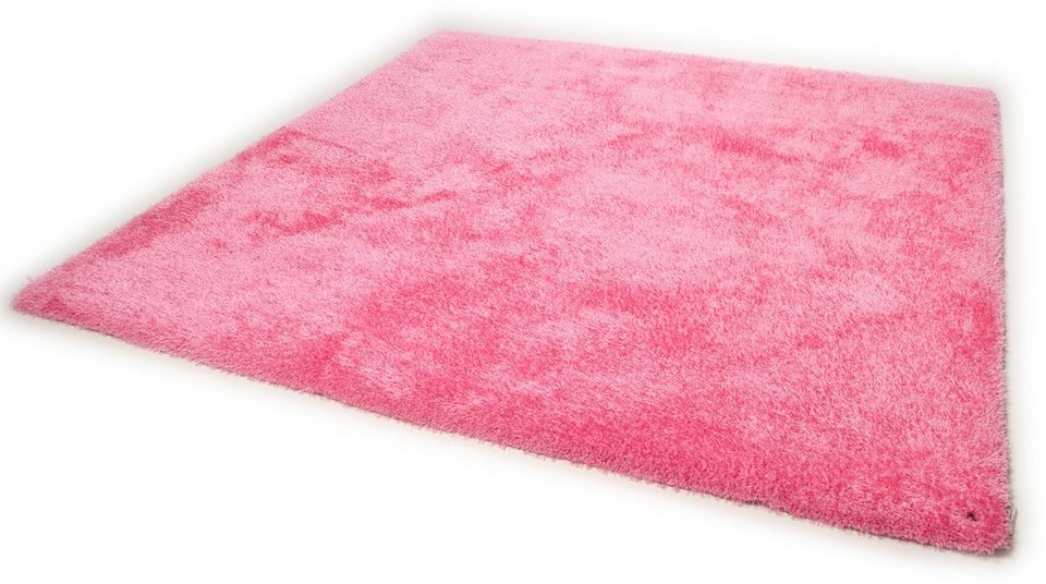 Hochflor-Teppich, Tom Tailor, »Soft«, Höhe 30 mm, handgearbeitet in rose