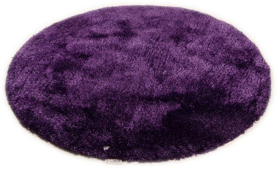 Hochflor-Teppich, rund, Tom Tailor, »Soft«, Höhe 30 mm, handgearbeitet in lila