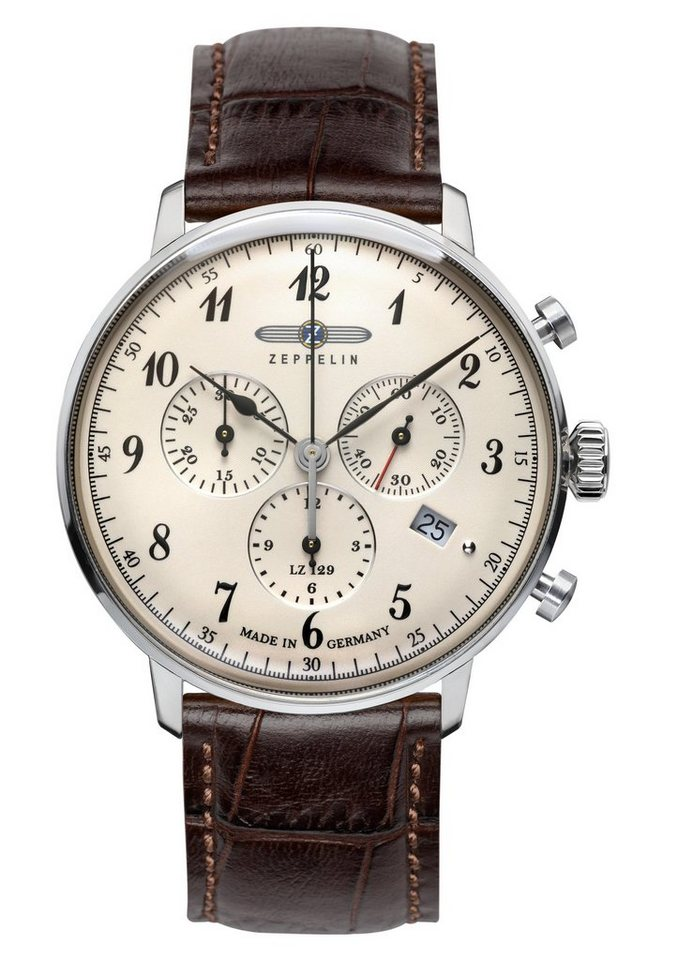 ZEPPELIN Chronograph »LZ129 Hindenburg, 7086-4« Made in Germany in braun