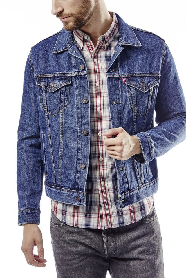 Levi's® Jeansjacke »The Trucker Jacket« in dark-stone-wash