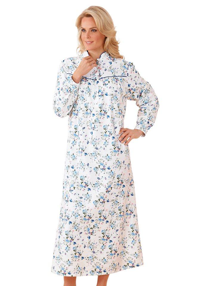 Nachthemd, Rosalie in weiß-bedruckt