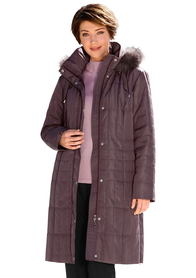 Classic Mantel mit Druckknopfleiste in mauve