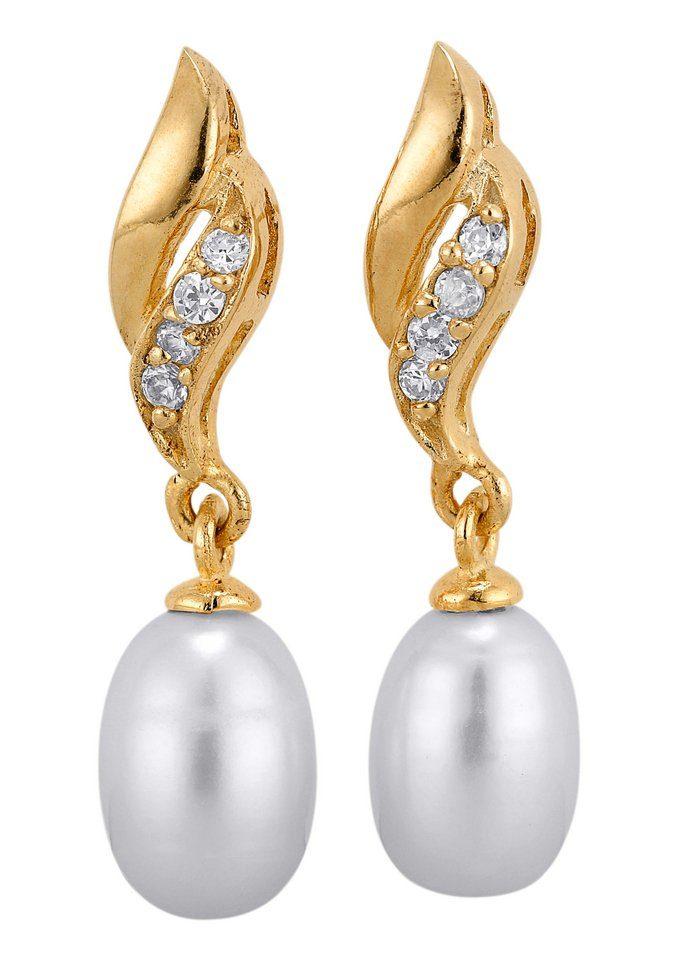 Paar Ohrhänger mit Zirkonia