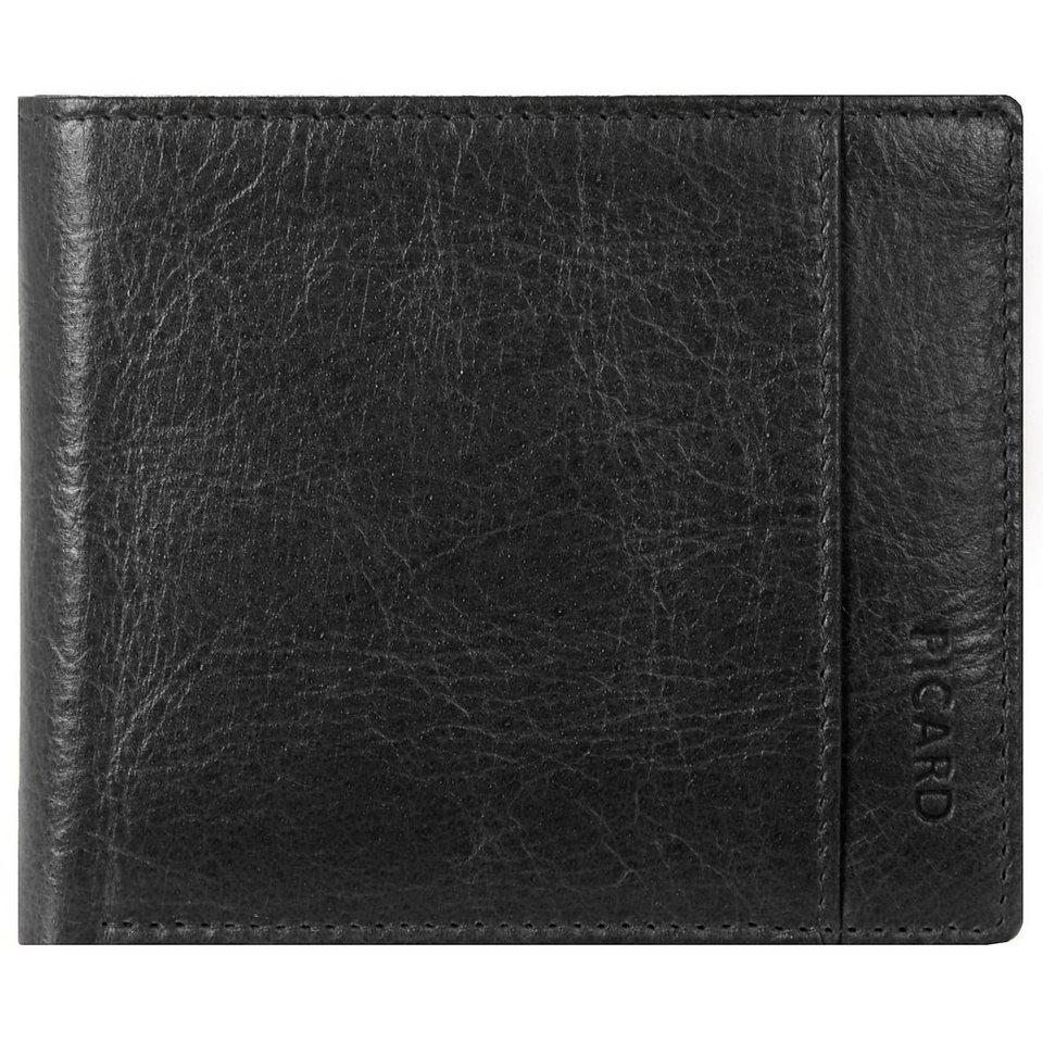 Picard Buddy Geldbörse Leder 11 cm in schwarz