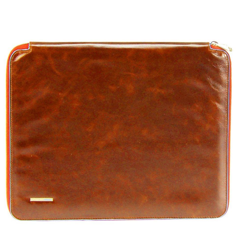 Piquadro Blue Square Schreibmappe Din A4 Leder 27 cm in orange