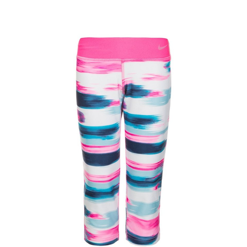 NIKE Legend Allover Print Trainingscapri Kinder in pink / blau / rosa