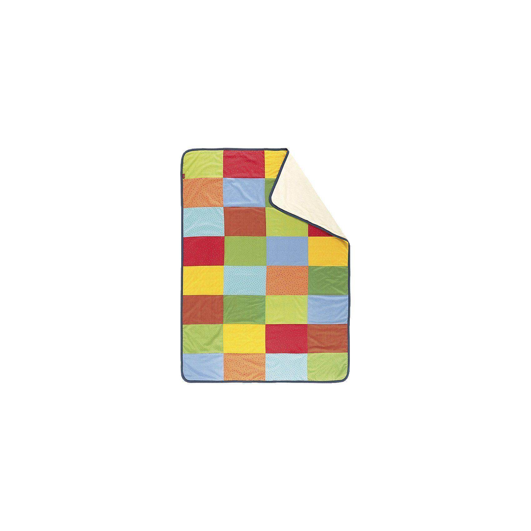 sigikid 52236 Patchwork-Decke bunt
