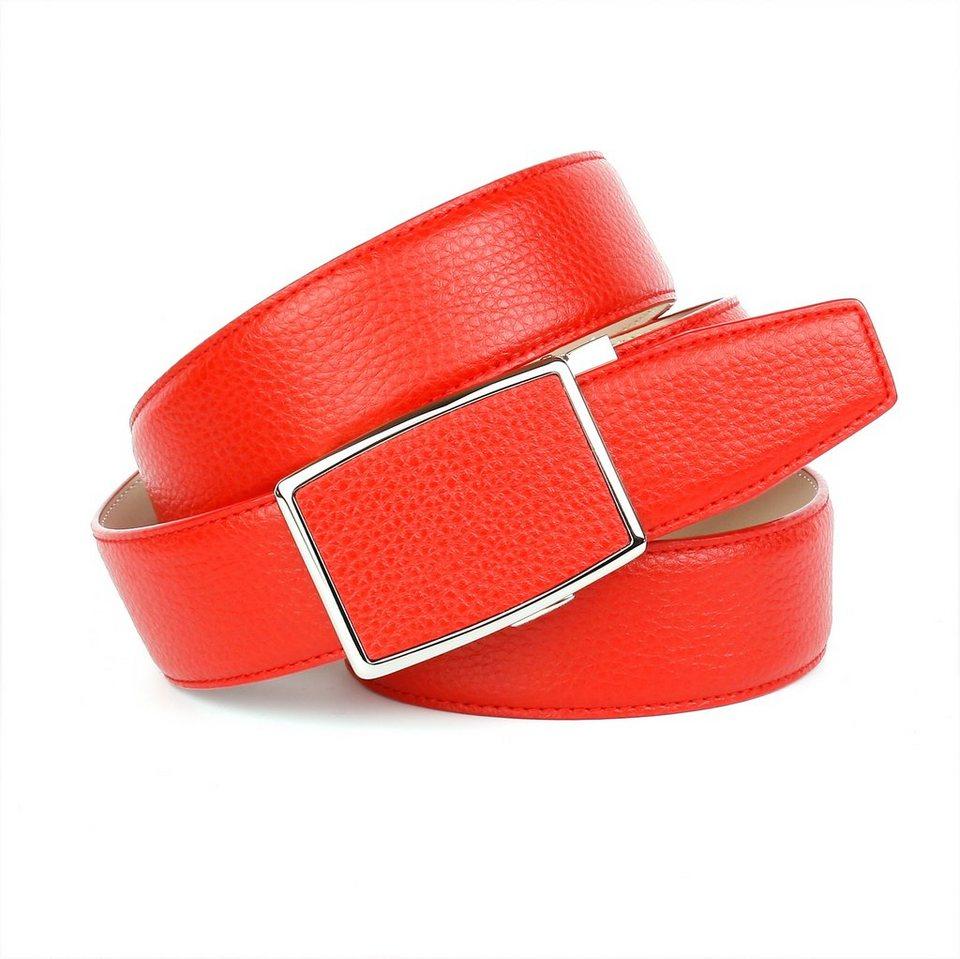 Anthoni Crown Ledergürtel in Rot