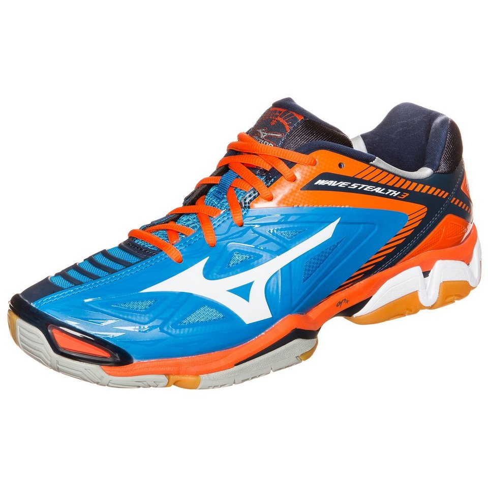 MIZUNO Wave Stealth 3 Handballschuh Herren in blau / orange / weiß