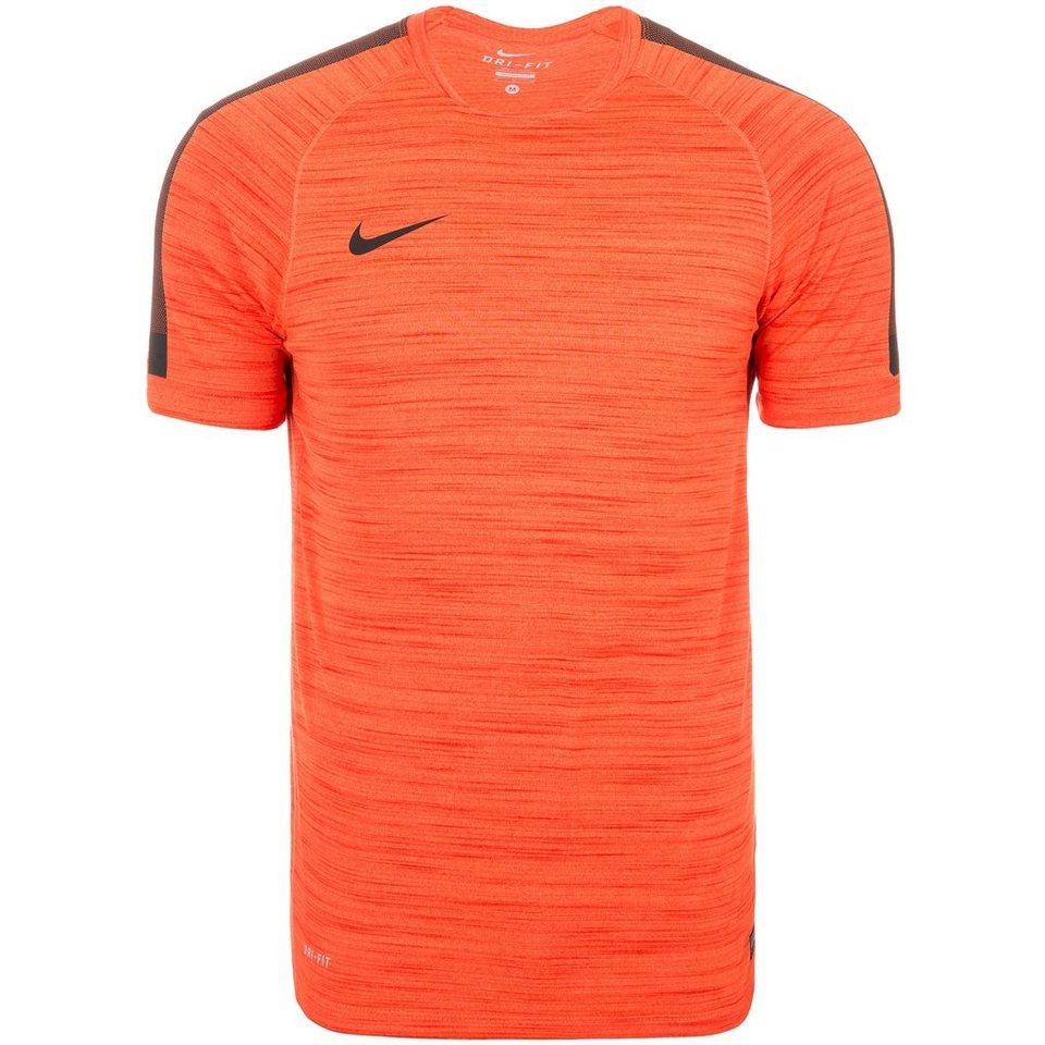 NIKE Flash Cool Top Trainingsshirt Herren in orange / schwarz