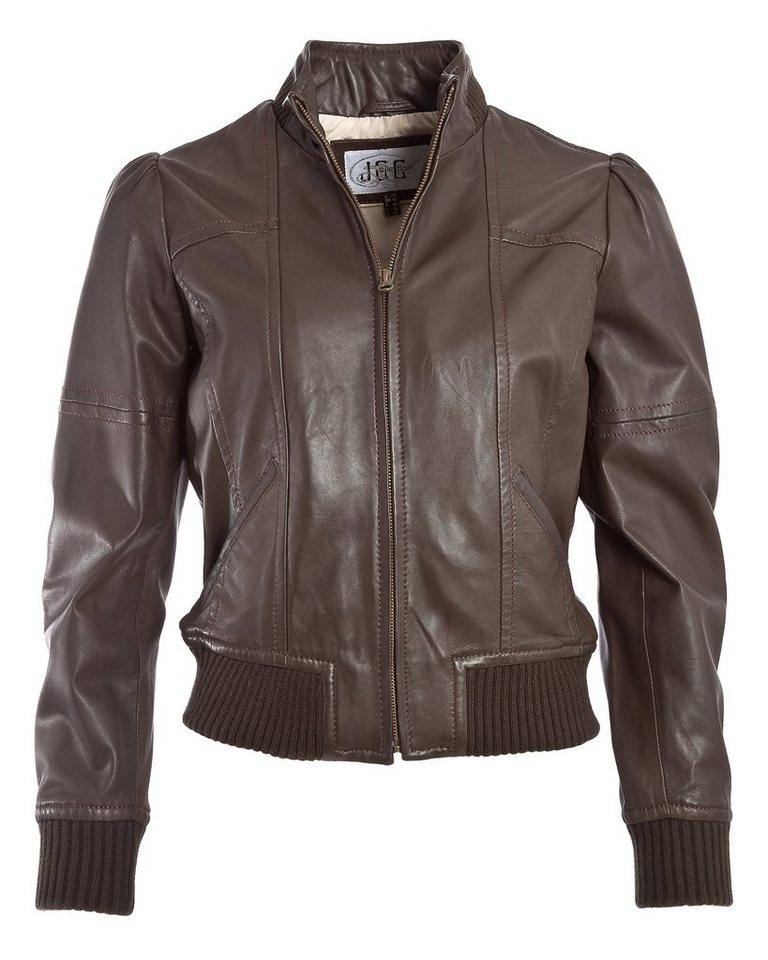 JCC Lederblouson, Damen »J2999« in braun