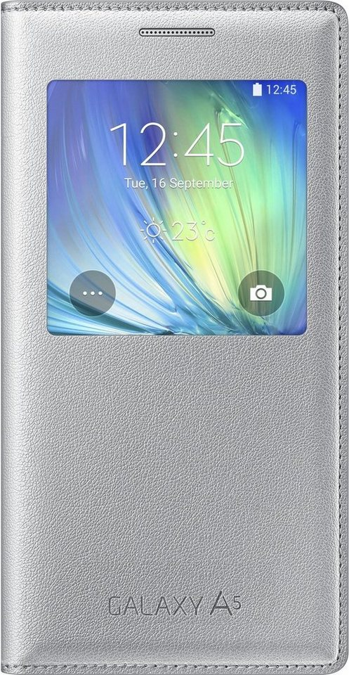 Samsung Handytasche »S-View Cover EF-CA500 für Galaxy A5, Charcoal« in Silber