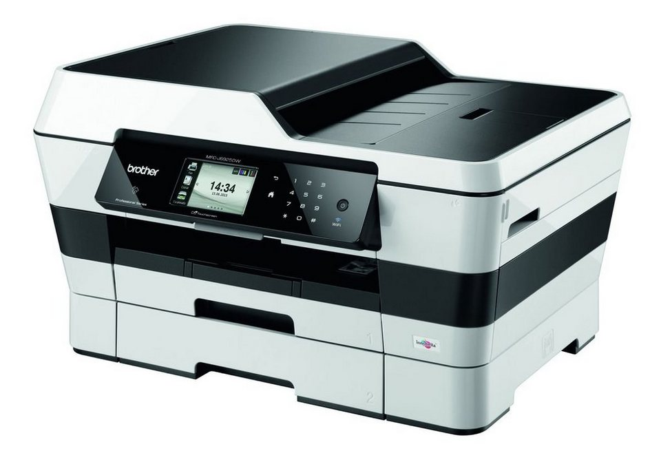 Brother Tintenstrahl-Multifunktionsdrucker »MFC-J6925DW 4in1 A3 Multifunktionsdrucker« in Silber-Schwarz