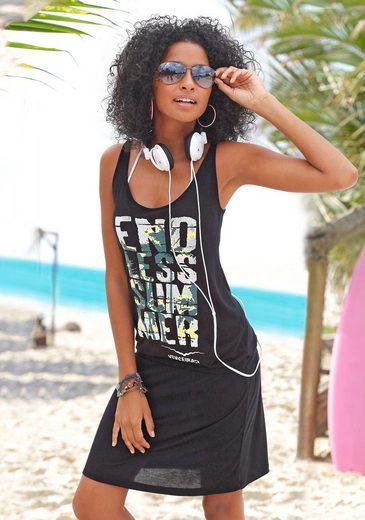 Venice Beach Strandkleid mit Frontprint