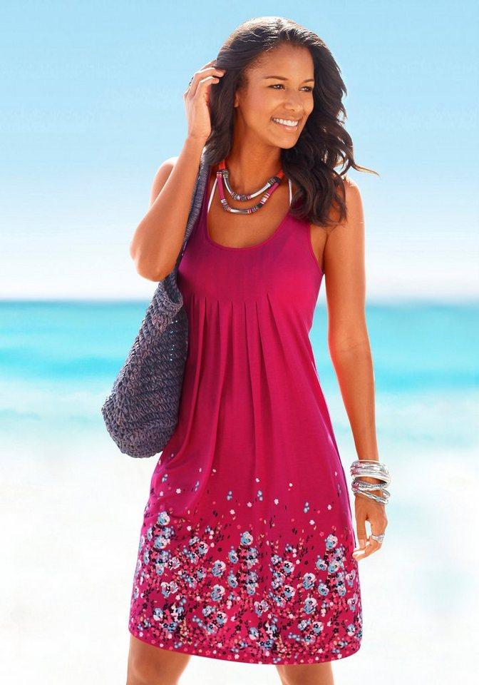 Beachtime Strandkleid mit Blumenprint in beere