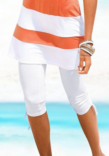 Beachtime Caprileggings mit Raffung