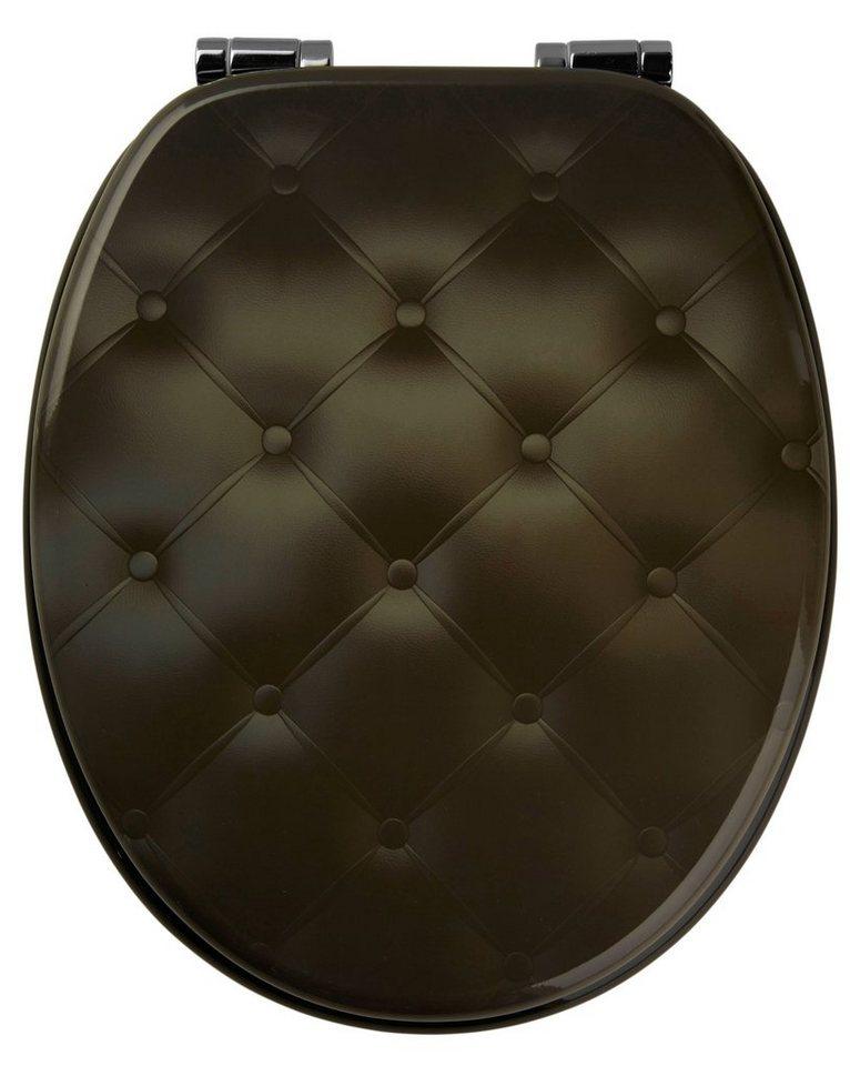 WC-Sitz »Kissen«, Mit Absenkautomatik in schwarz