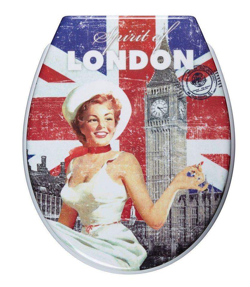 WC-Sitz »Spirit of London«, Mit Absenkautomatik in bunt