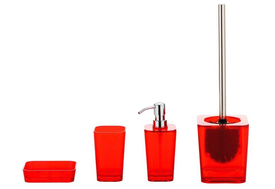 badezimmer accessoires turkis, kela bad-accessoire-set »kristall«, 4-teilig | otto, Design ideen