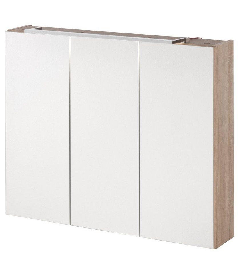 kesper spiegelschrank montana breite 80 cm mit led beleuchtung online kaufen otto. Black Bedroom Furniture Sets. Home Design Ideas