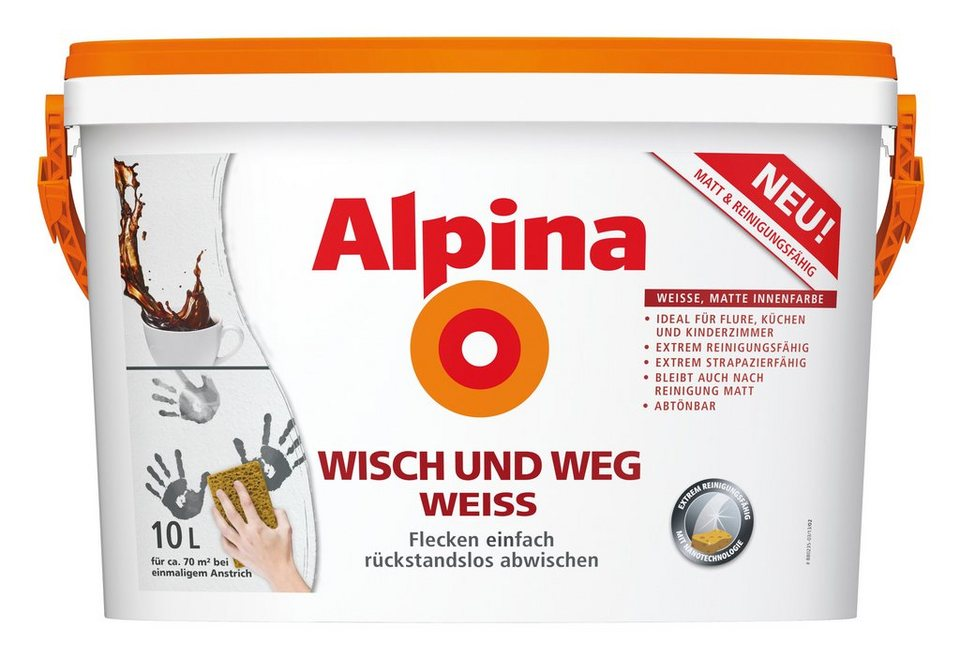 Innenfarbe »Alpina Wisch und Weg Weiss« in weiß