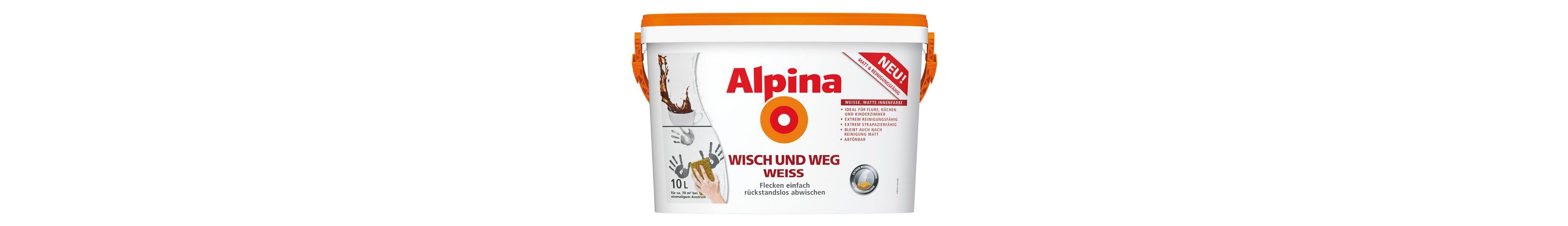 Innenfarbe »Alpina Wisch und Weg Weiss«