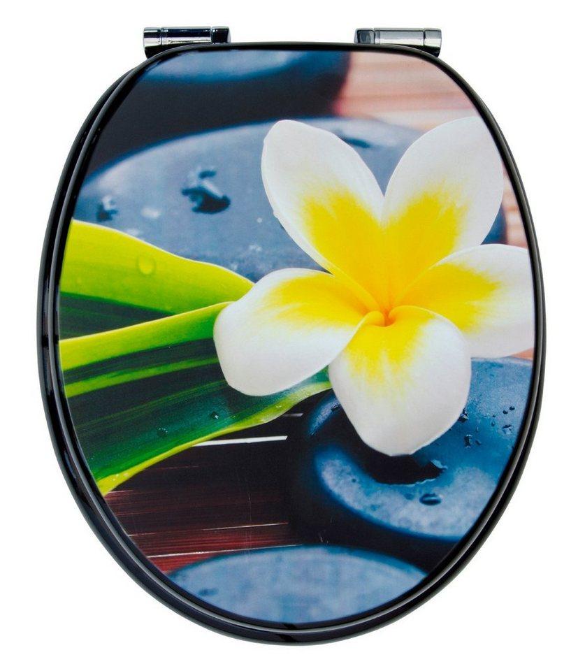 WC-Sitz »Spa Flower«, Mit Absenkautomatik in bunt