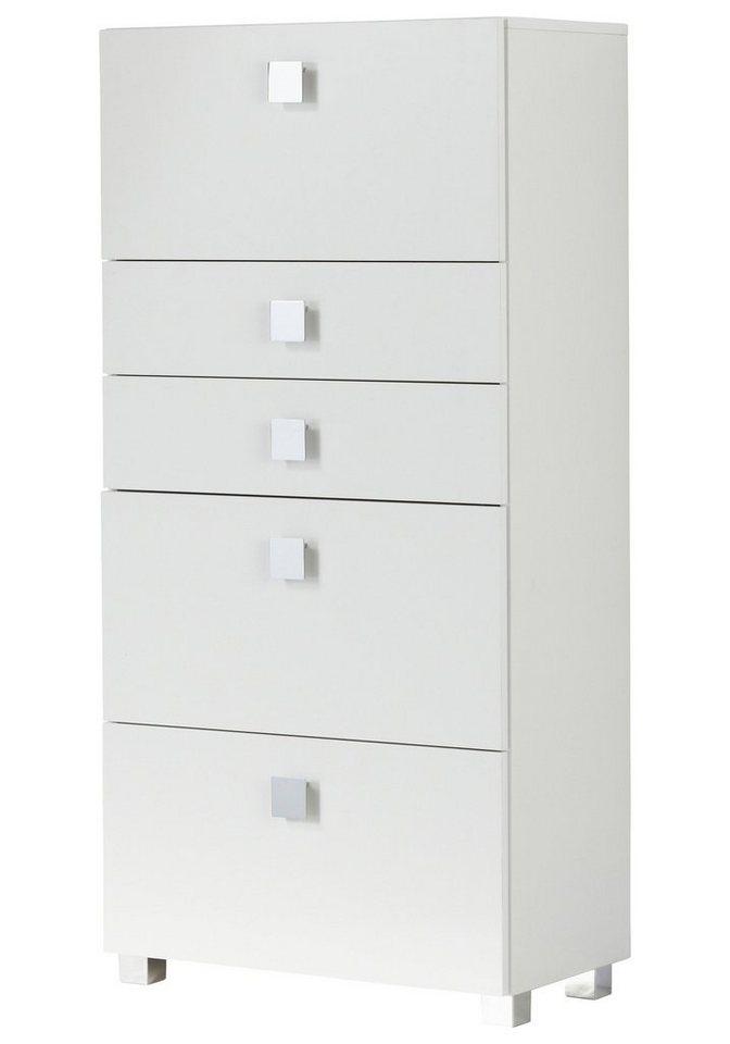 Schildmeyer Hochschrank »Quadra« 65 cm in weiß