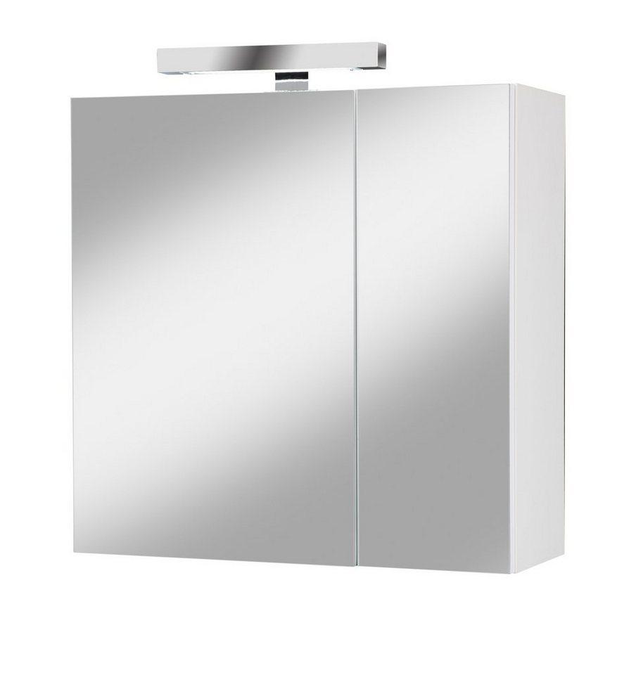 Spiegelschrank »Prag« Breite 61 cm, mit Beleuchtung in weiß