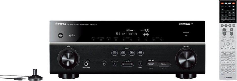 yamaha rx v779 7 2 av receiver 3d spotify airplay wlan. Black Bedroom Furniture Sets. Home Design Ideas