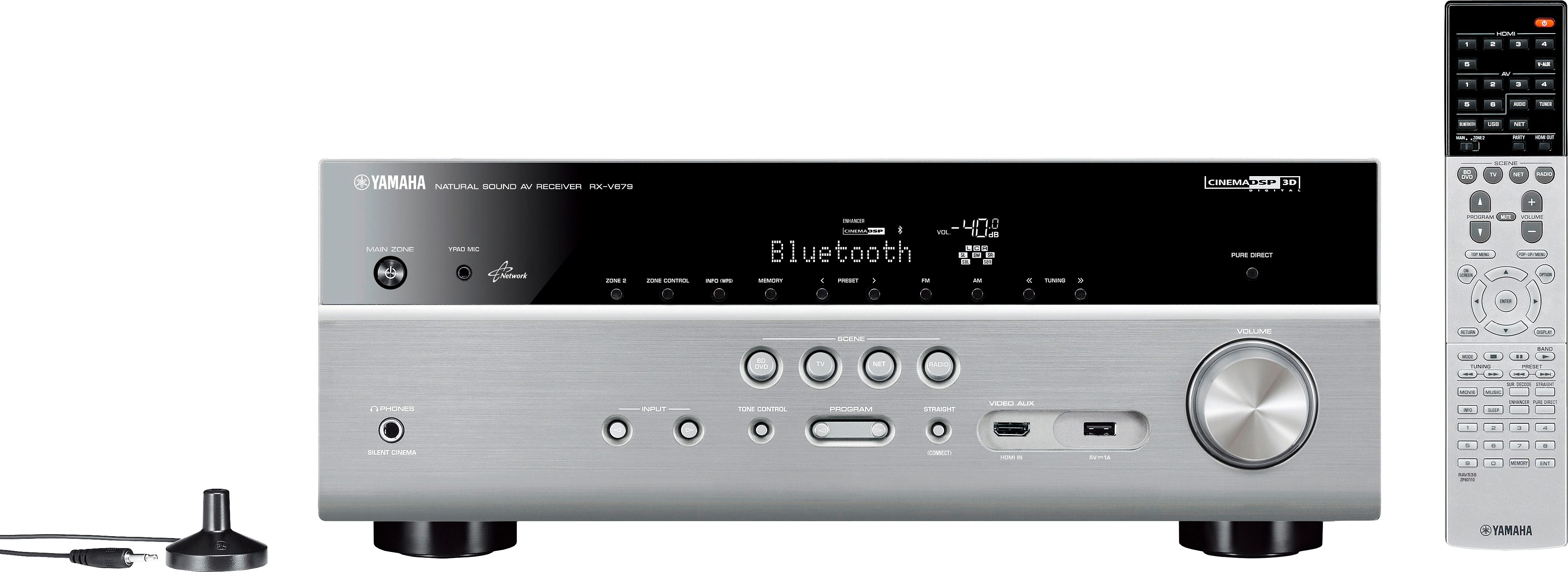 Yamaha RX-V679 7.2 AV-Receiver (3D, Spotify, Airplay, WLAN, Bluetooth)