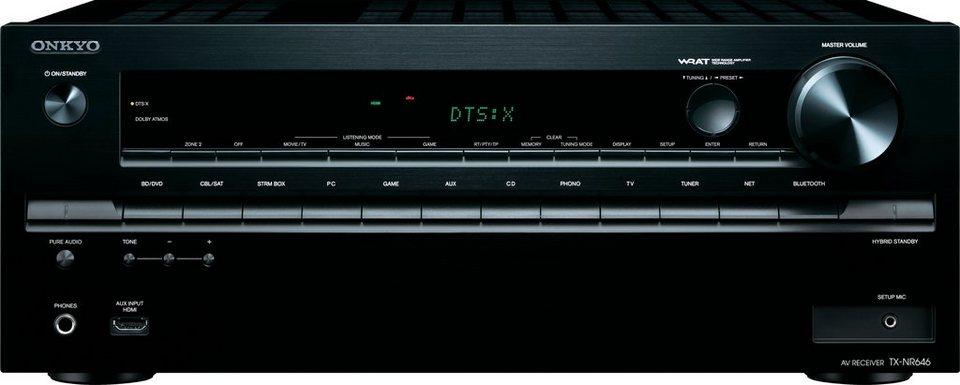 Onkyo TX-NR646 7.2 AV-Receiver (3D, Spotify, Airplay, WLAN, Bluetooth) in schwarz