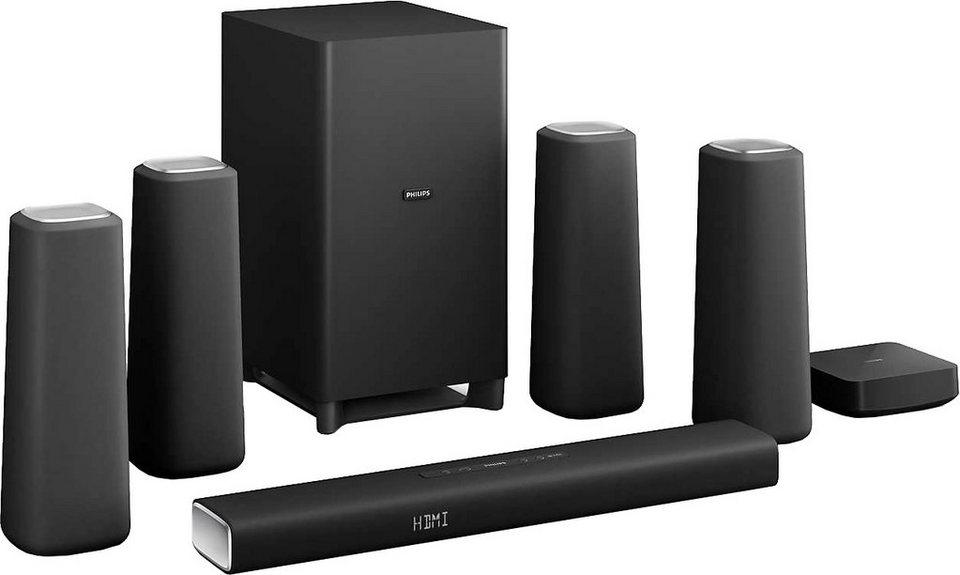 Philips CSS5530B/12 5.1 Heimkinosystem (420 W, Bluetooth, NFC, drahtloser Subwoofer) in schwarz