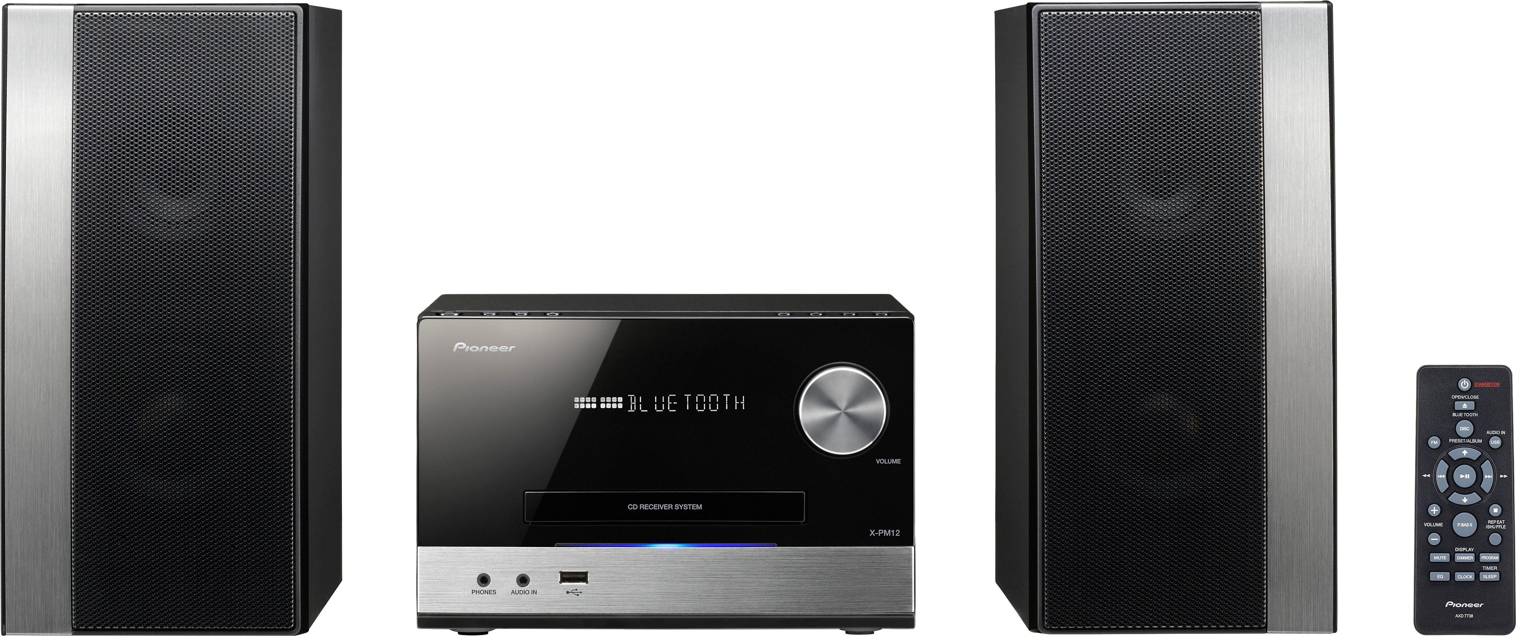 Pioneer X-PM12 Microanlage, Bluetooth, RDS, 1x USB