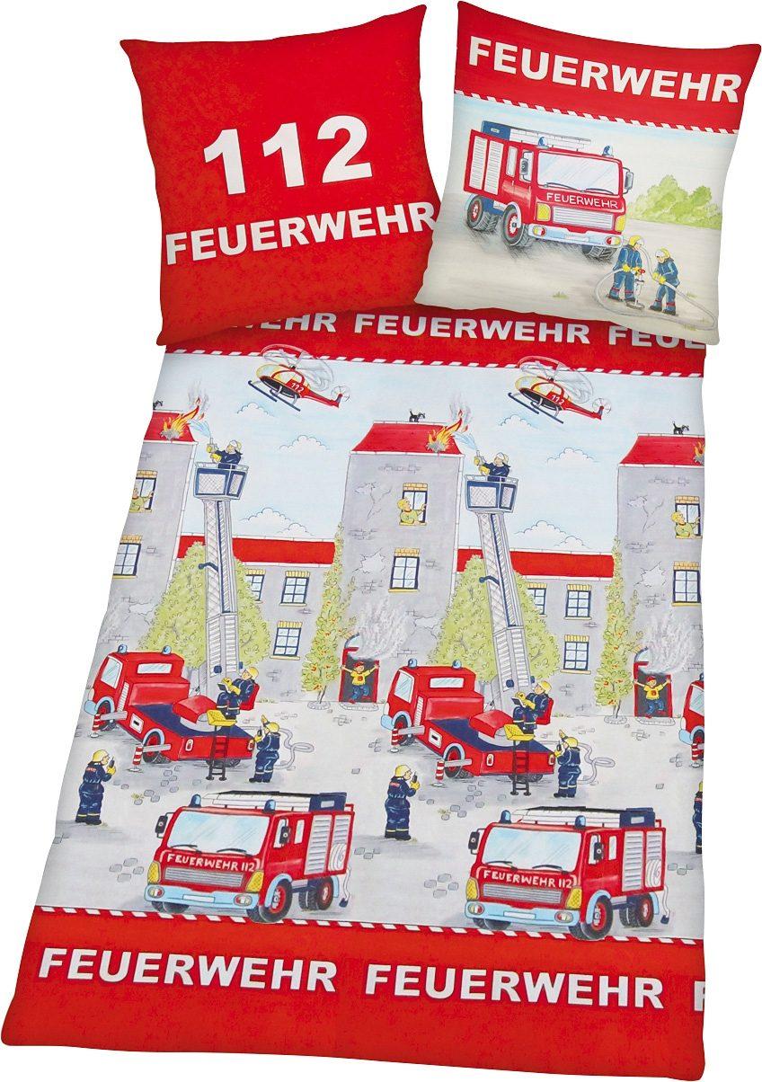 Bettwäsche, Young Collection, »Feuerwehr«, mit Motiv
