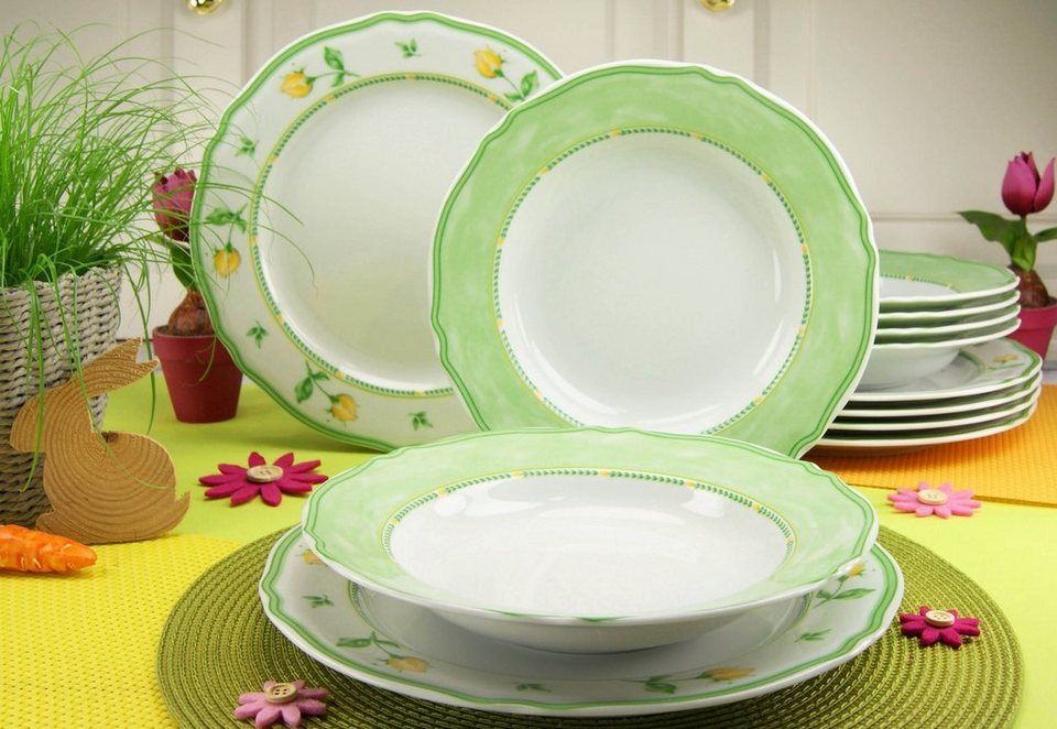 creatable tafelservice porzellan 12 teile spring rose online kaufen otto. Black Bedroom Furniture Sets. Home Design Ideas