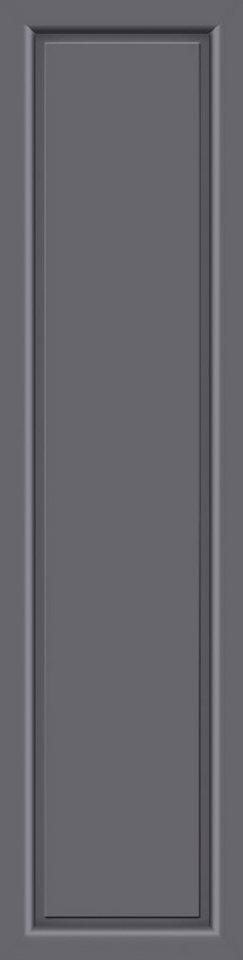 KM MEETH ZAUN GMBH Seitenteile »S04«, für Alu-Haustür, BxH: 60x198 cm, anthrazit in grau