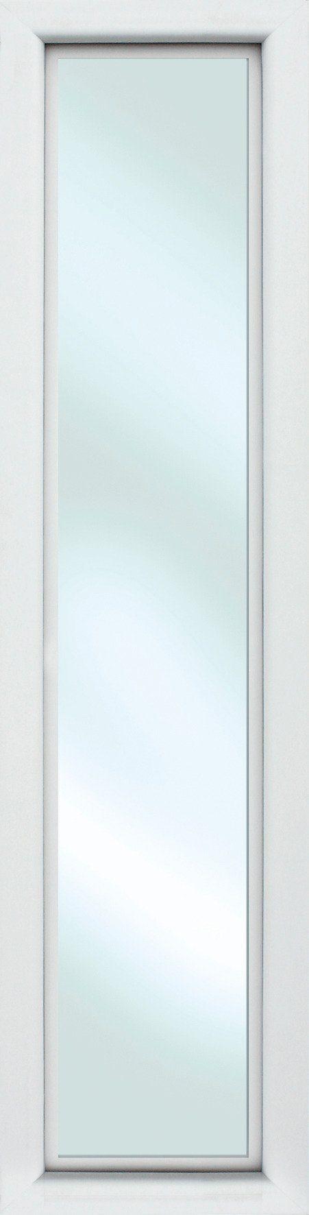 KM MEETH ZAUN GMBH Seitenteile »S01«, für Alu-Haustür, BxH: 50x208 cm, weiß