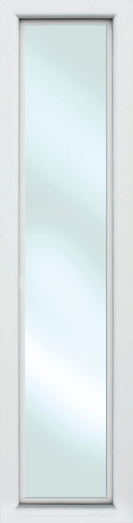 KM MEETH ZAUN GMBH Seitenteile »S01«, für Alu-Haustür, BxH: 60x208 cm, weiß