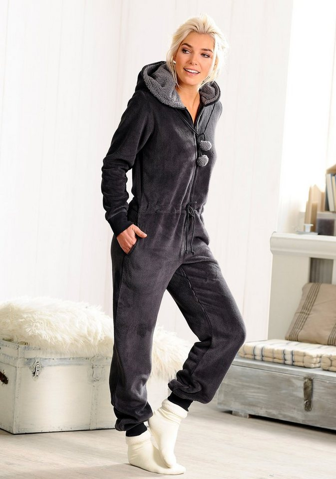rebelle jumpsuit mit kapuze und bommeln kaufen otto. Black Bedroom Furniture Sets. Home Design Ideas