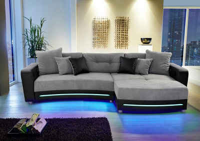 sofa mit led bestseller shop f r m bel und einrichtungen. Black Bedroom Furniture Sets. Home Design Ideas