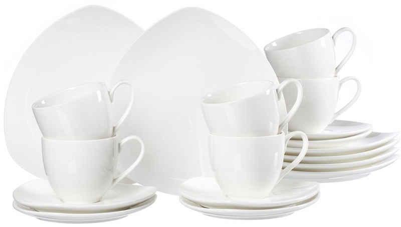 Ritzenhoff & Breker Kaffeeservice »Triangolo« (18-tlg), Porzellan, Dreieck-Form