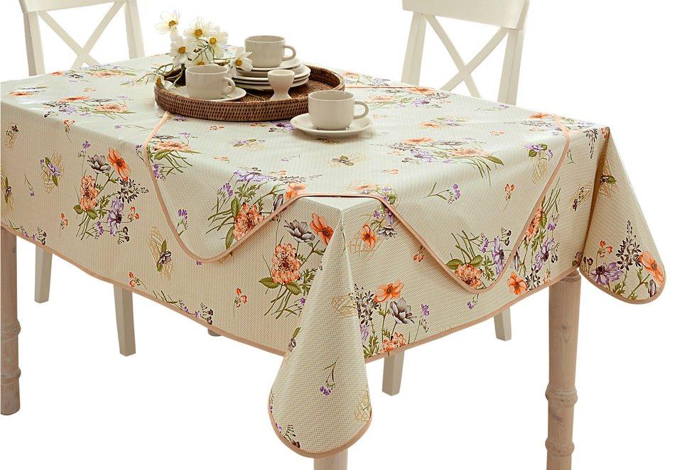 Tischdecke in natur-bedruckt