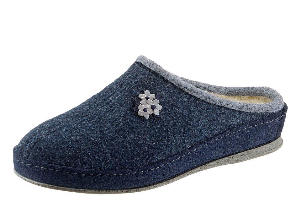 Schawos Pantoffel mit anatomisch geformtem Fußbett  blau