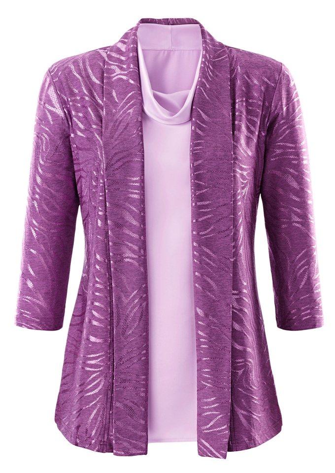 Lady Shirtjacke in violett