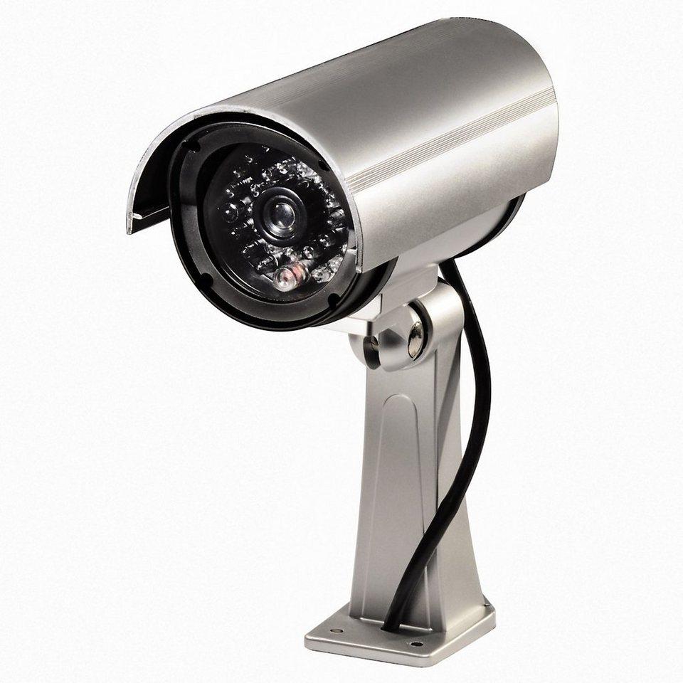 Hama Überwachungskamera indoor Überwachungssystem Attrappe »für Haus, Büro und Garten« in Silber