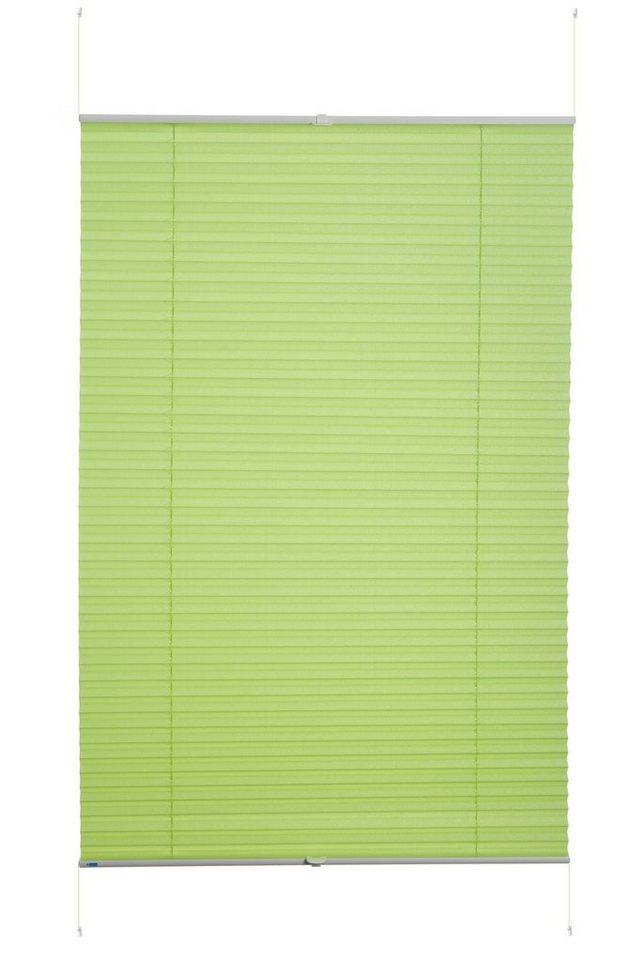 Klemmfix-Plissee, K-Home, »Siena«« (1 Stück), ohne Bohren, Verdunkelung in grasgrün