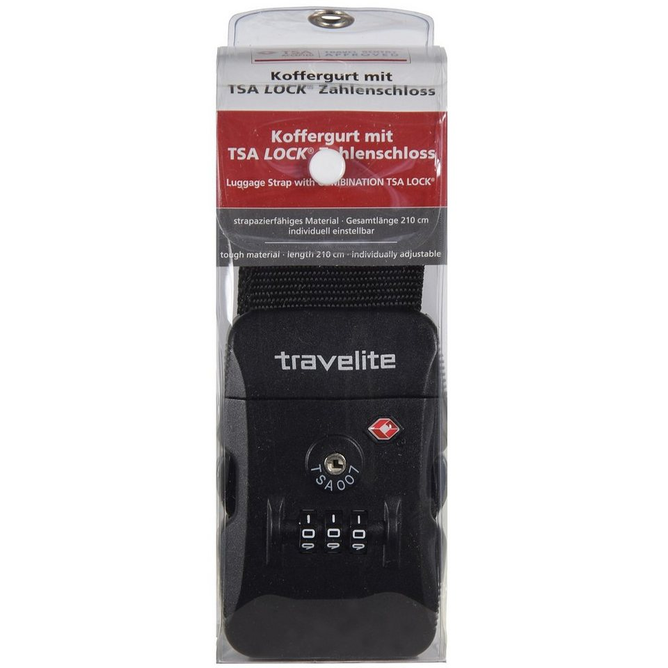 Travelite Travelite Accessoires Koffergurt 210cm in schwarz