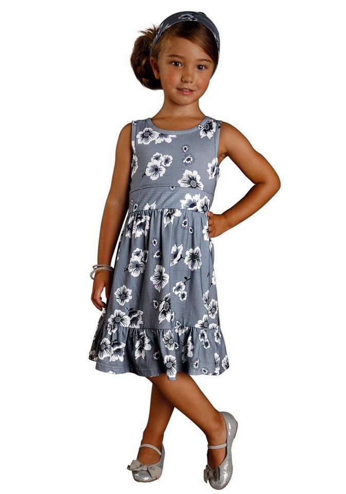 PETITE FLEUR Jerseykleid mit passendem Haarband (Set, 2 tlg.) in grau