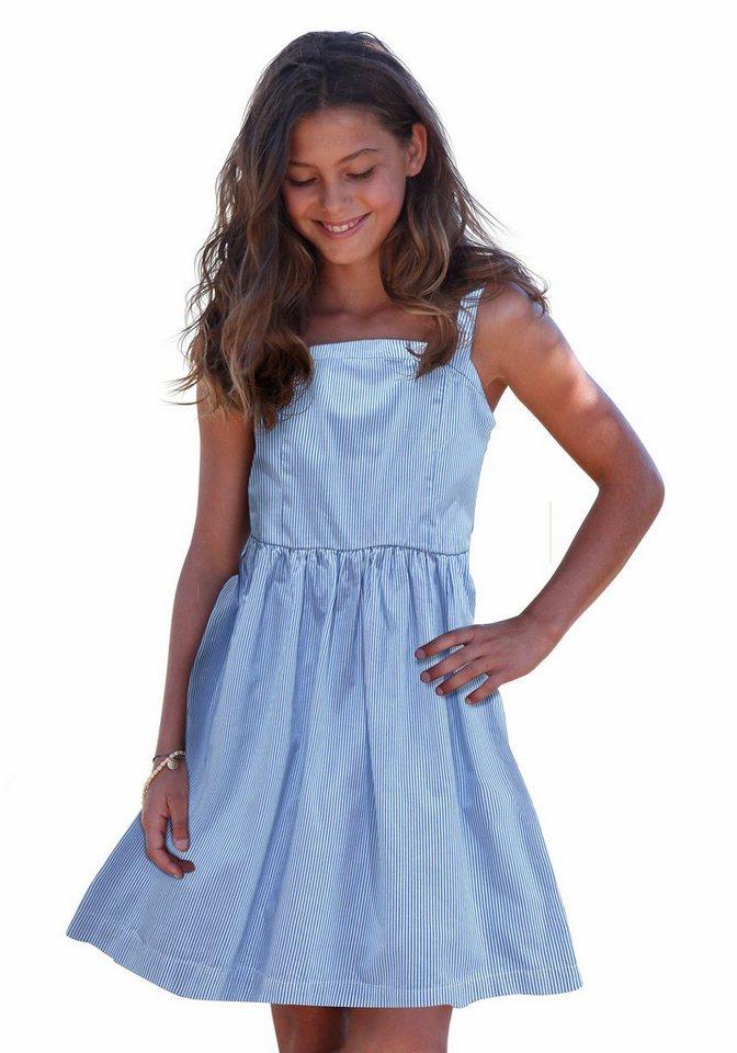 Arizona Trägerkleid mit feinen Streifen in blau-gestreift